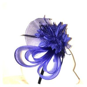 Violet Blue Fascinator Headband Hat Piece 🔔